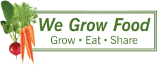 "The logo of WeGrowFood: ""Grow-Eat-Share"""